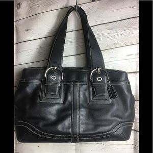 Coach Black Leather Soho Tote bag F-10912